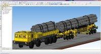Транспортно-загрузочная машина для длинномерных пакетированных грузов